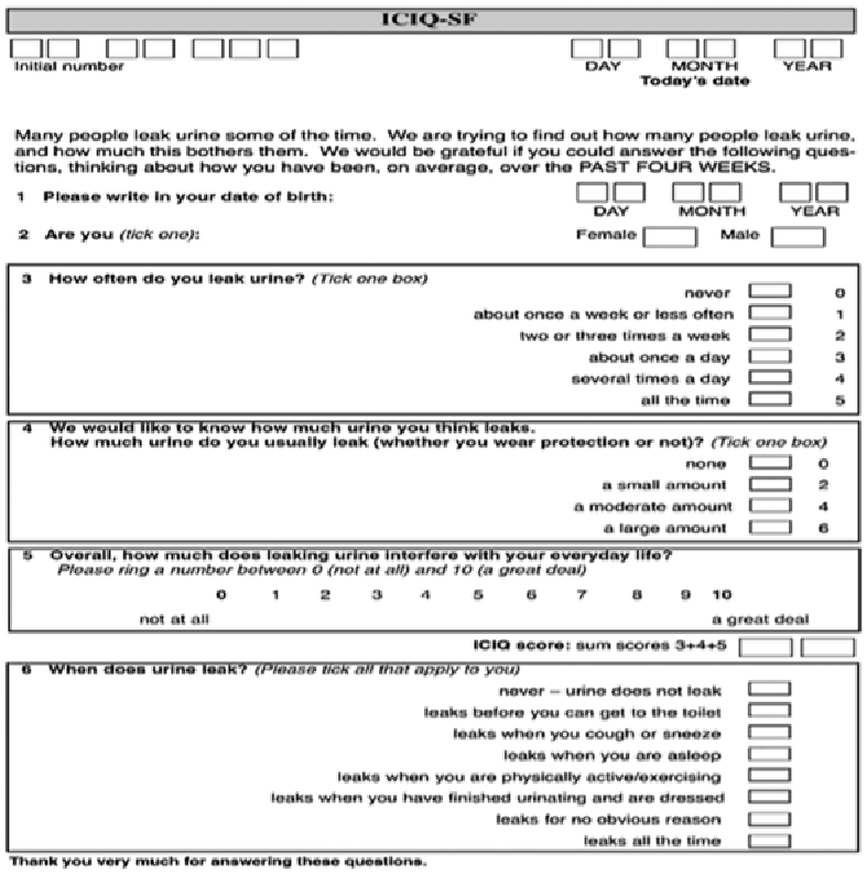 Urinary Incontinence - Diagnosis   Center on Aging Care Sheets